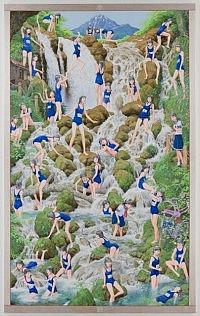 《滝の絵》 2007-2010 キャンバス、アクリル絵具439×272cm 厚6cm 撮影:福永一夫 国立国際美術館蔵の画像