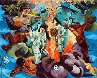 《自立の炎》1994年、鎮守氷川神社蔵(埼玉県川口市)の画像